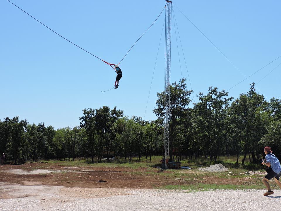 Human catapult - human slingshot